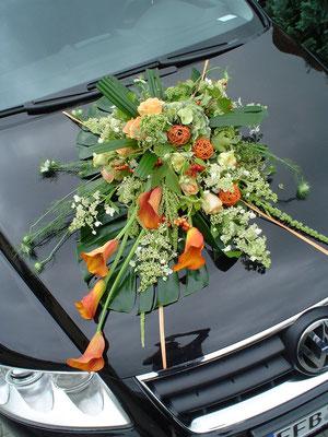Autoschmuck-Hochzeit / BlumenART-Caputh