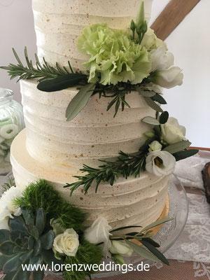 Hochzeitstorte - Dekoration von BlumenART