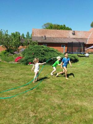 Kinder hatten mächtig Spaß