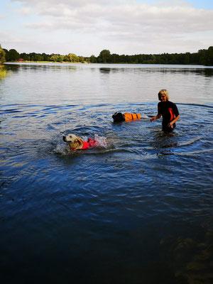 mit Sam u Hummel schwimmen