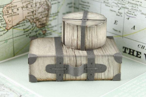 Explosionsbox, Geldgeschenk, Australienreise, Koffer, Verpackung für Geld, Geburtstagsgeschenk