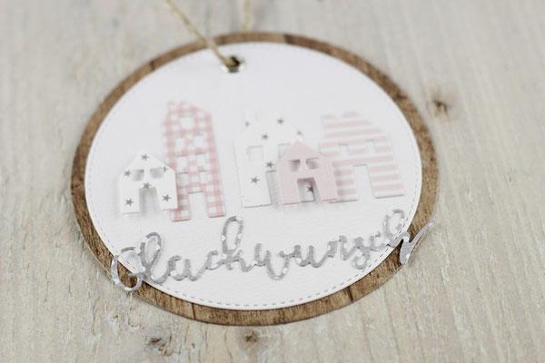 Geschenkanhänger, Häuschen, Haus, Tag