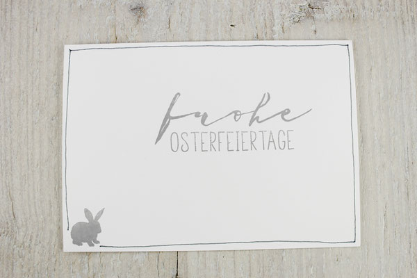 Osterkarten, Ostergruß, Grußkarten, Karten mit Hasen, Karten zu Ostern, Ostern