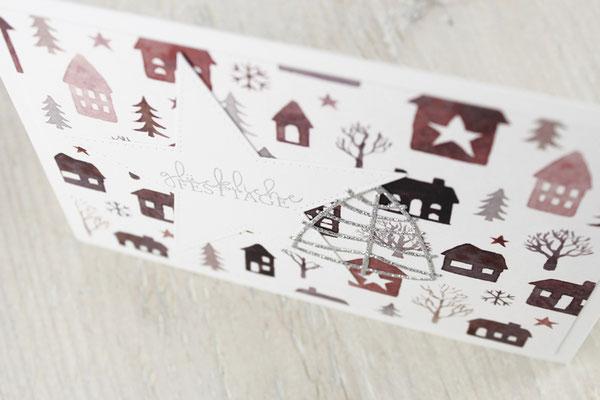 Tannenbaum, Weihnachtskarte, Stern