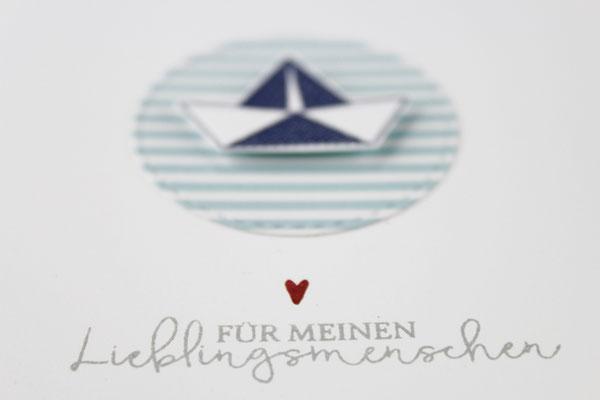 Maritim, Karte, Grußkarte, Schiff, Anker, Herz