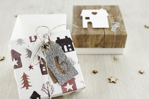 Adventskalender, Holz, Weihnachten, Geschenke, Box