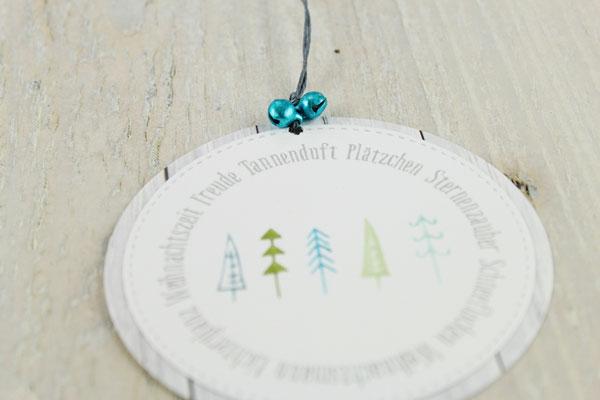 X-Mas, Weihnachtsbäume, Tannenbäume, Geschenkanhänger, Deko