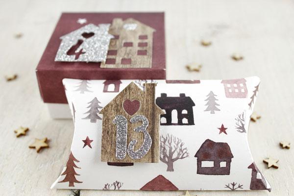 Box, Pillowbox, Weihnachten, Adventskalender