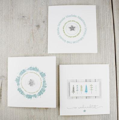 Weihnachtskarten, Karten mit Umschlag