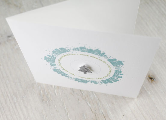 Häuschen, Weihnachtskarten, Tannenbaum