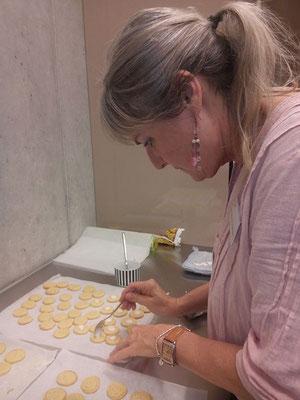 Brigitte bei der Arbeit