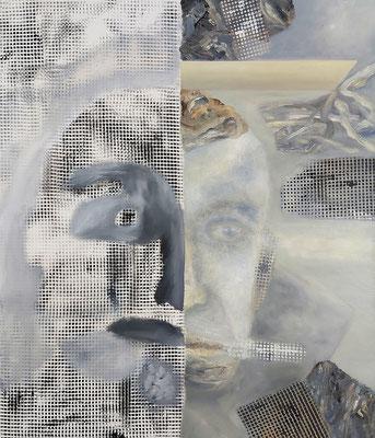 Verwaister Kopf III Acryl/Lwd. 80 x 95 cm 2020