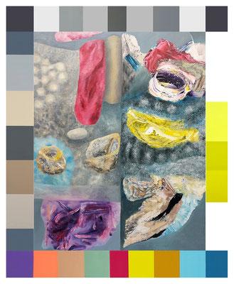 Reviere VII  5-teilig Acryl / Lwd.   175 x 215 cm 2020-21