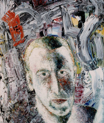 Porträt von K.  Öl/Lwd  50 x 60cm  1991