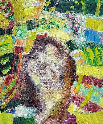 Porträt von P.  Öl/Lwd  50 x 60cm  1992