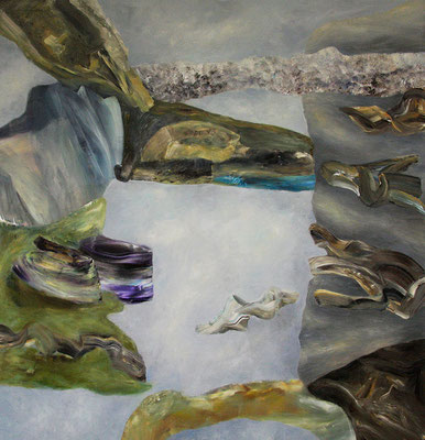 Niemandsland Acryl / Lwd. 155 x 165 cm 2016