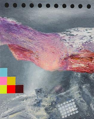 Reviere IX  Acryl / Lwd.  24 x 30 cm 2021