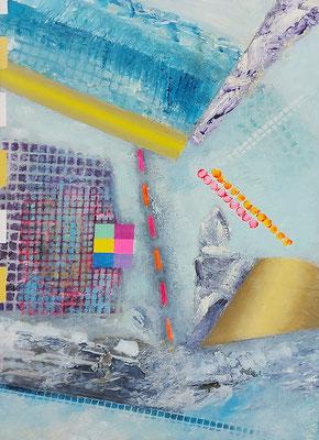 Reviere X  Acryl / Lwd.   25 x 35 cm 2021