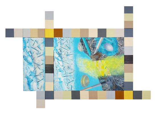 Reviere III  11-teilig Acryl / Lwd.   170 x 120 cm 2020-21