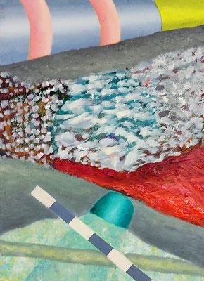 Verschrankung  Acryl / Lwd. 25 x 35 cm 2018-2021