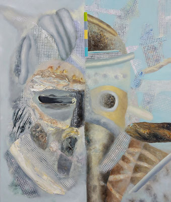 Verwaister Kopf VI (Desperado) Acryl/Lwd. 80 x 95 cm 2021