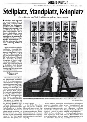 Neue Westfälische, Juli 2003