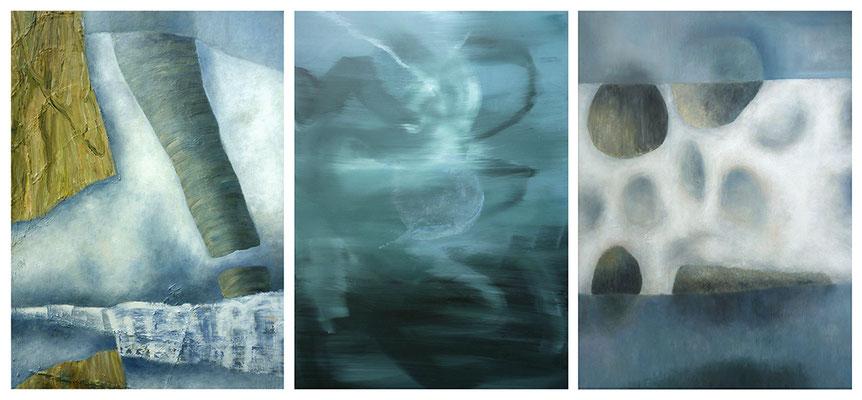 Territorien 11  3-teilig  Acryl / Lwd. 270 x 125 cm 2012