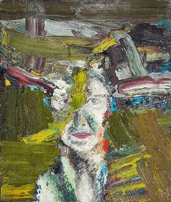 Porträt von S.  Öl/Lwd  50 x 60cm  1993