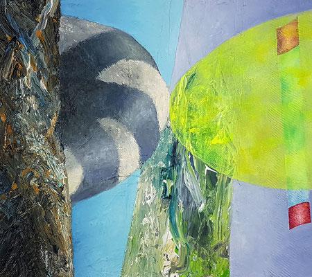 Gewaltungen III  Acryl / Lwd. 40 x 45 cm 2017-2019