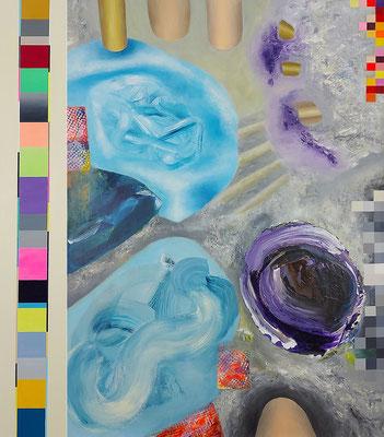 Reviere VIII  2-teilig Acryl / Lwd.   108 x 125 cm 2021
