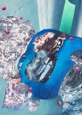 Sondierung III  Acryl / Lwd. 50 x 70 cm 2019
