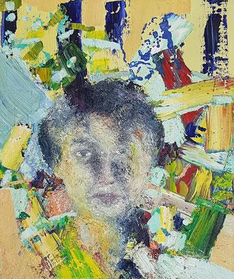 Porträt von M.  Öl/Lwd  50 x 60cm  1992