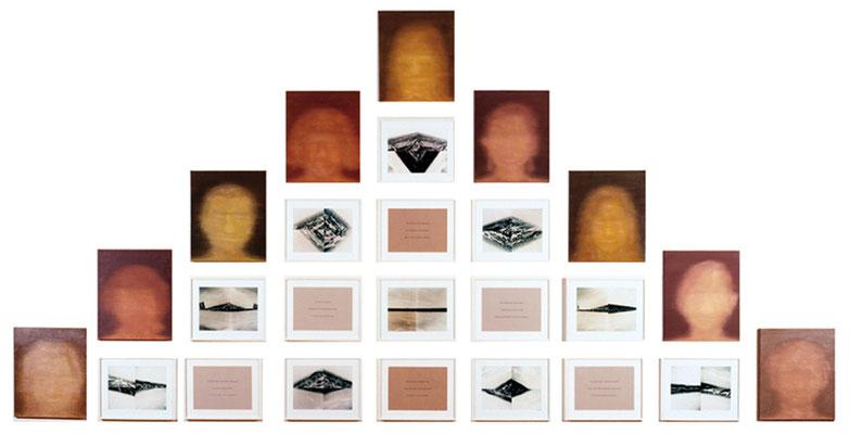 Überall-All-jetzt 25-teilig Öl/Lwd. Foto Text 250 x 550 cm 2000