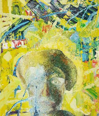 Porträt von M.  Öl/Lwd  50 x 60cm  1991
