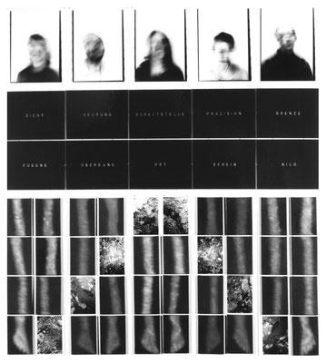 Von der Erde in den Himmel und zurück 55-teilig Öl/Lwd./Text/Karton 280 x 260 cm 1997