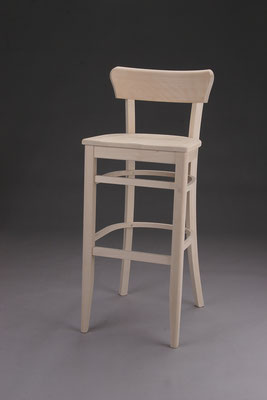 Stuhl Modell B 1960-B in Buche ! Maße: 44 cm tief, 42 cm breit, 107 cm hoch, 80 cm Sitzhöhe