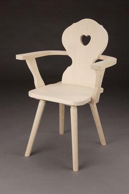 Stuhl Modell A 1- A in Fichte! Maße: 50 cm tief, 65 cm breit, 89 cm hoch, 45 cm Sitzhöhe