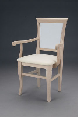 Stuhl Modell HC 519-A in Buche! Maße 47 cm tief, 61 cm breit, 96 cm hoch, 51 cm Sitzhöhe, 70 cm Armlehnhöhe