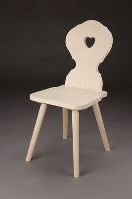 Stuhl Modell A 1 in Fichte, Lieferbar in Fichte Altholz, in Buche, in Eiche! Maße:   50 cm tief, 41 cm breit, 89 cm hoch, 45 cm Sitzhöhe