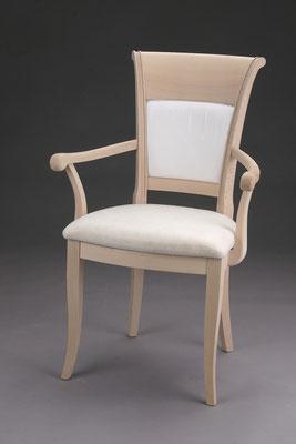 Stuhl Modell HC 820-A in Buche! Maße 57 cm tief, 61 cm breit, 97 cm hoch, 51 cm Sitzhöhe, 68 cm Armlehnhöhe