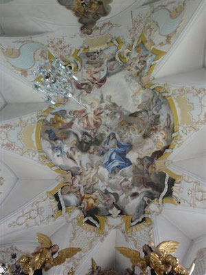 Plafond  baroque de la chapelle