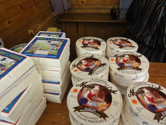 Marché Français 2012 : camemberts