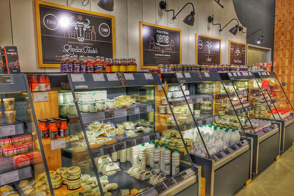 Milk and cheese counter in YEME