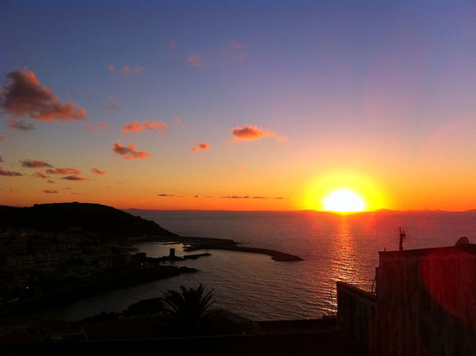 Sunset on the top of the hill in Castelsardo