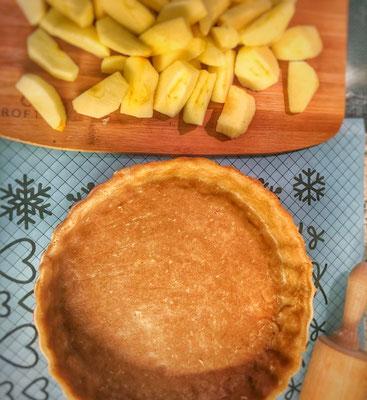 Spelt apple tart dough