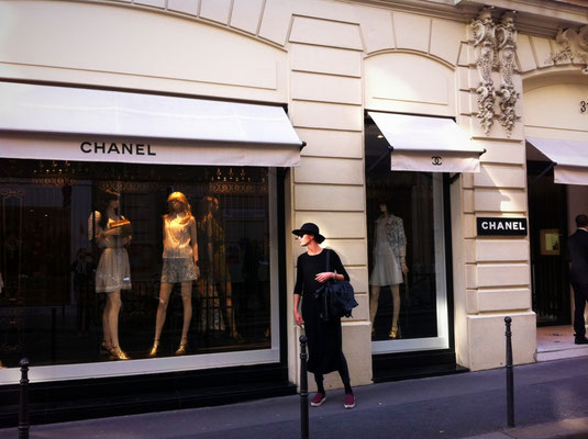In front of the Chanel Paris