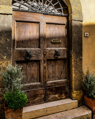 An old gate in Montepulciano, Italy