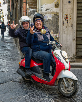 Motorcyclist in Naples Italy 2019