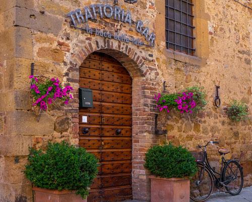 Trattoria in Pienza, Italy