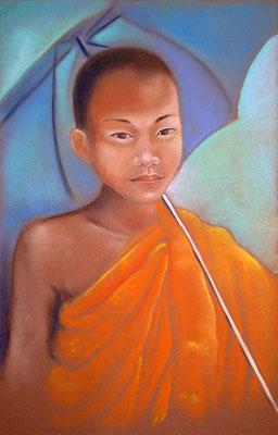 pastel Laos moine 65X50 -vendu-